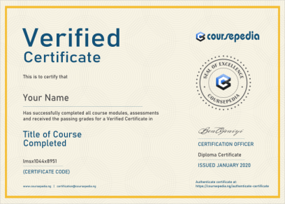 Coursepedia Demo Certificate